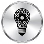 Logo rond metal ampoule